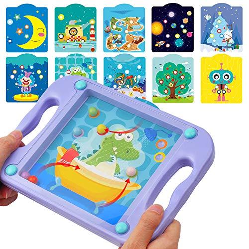 GizmoVine Baby Spielzeug Lernspielzeug Spiele ab 4 Jahren Babyspielzeug Balance Ball Puzzle-Spiel zum Entwickeln von Geduld mit 10 Spielszenen-Karten