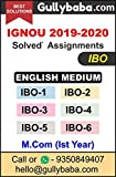 GullyBaba IGNOU Solved Assignment M.Com IBO1, IBO2, IBO3, IBO4, IBO5, IBO6 (Ist Year in English) Latest Assignment Solutions Gullybaba.com (Normal Quality)