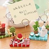 xmelug Memo Clip-Miniature Micro Paysage Théière Strawberry Tree Memo Clip De Support pour Carte...