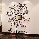 3D acrílico Arte de la pared con diseño de árbol de cristal marco de fotos para decorar habitaciones
