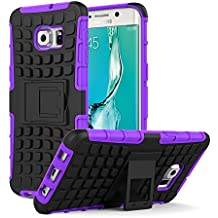 Galaxy S6 Edge+ Plus Funda - MoKo Heavy Duty Rugged Dual Layer Armor with Kickstand Protective Cover para Samsung Galaxy S6 Edge + 2015 Smartphone, Violeta (Will Not Fit Galaxy S6 Edge)