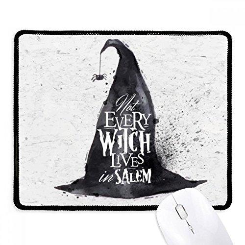 DIYthinker Ink Effect Zaubererhut Halloween-Hexe Griffige Mousepad Spiel Büro Schwarz Titched Kanten Geschenk (Hexe Spiele Für Halloween)