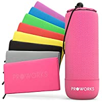 Proworks Microfibre Towel, Quick Dry Gym Towel with Travel Bag, Ultra-Light Beach Towel, Space-saving Microfibre Hair Towel, Sports Towel for Men, Women & Children, XX Large - Pink