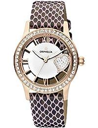 Orphelia Damen-Armbanduhr Ricci Analog Quarz Leder