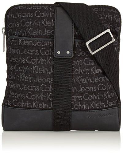 Calvin Klein Jeans Umhängetasche Mixmedia 1 Flat Crossover Schwarz (Black) J5IJ500105 Preisvergleich