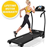 X-LITE II TREADMILL - 2016 MODEL - SUPER COMPACT - SUPER LITE - BMI Calculator - 3 LEVEL Manual Incline - 12KPH - Powerful Motor 1100W - 14 Auto + 1 Manual Program - HI-FI Speakers - MP3 iPhone Connection - Drink Holders - Hand Controls - Heart Rate / BMI Sensors - Motorised Folding Running Machine - BRAND NEW