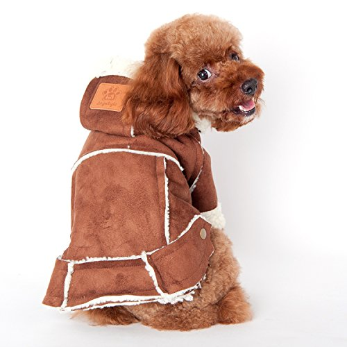 Cappottino per cane giacca imbottita Eco Pelle