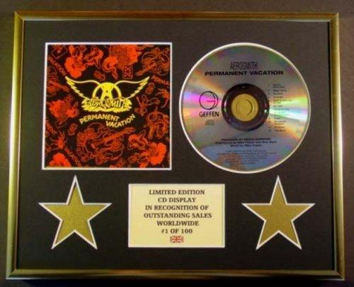 AEROSMITH/CD-Darstellung/ Limitierte Edition/COA/PERMANENT VACATION (Aerosmith Sammlerstücke)