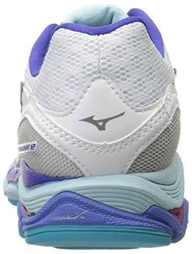 Mizuno Wave Inspire 12 Synthétique Chaussure de Course White-Silver-Clearwater