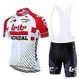 Maillot de Cyclisme comprimé pour Hommes, Anti-Sueur à séchage Rapide, Chemise de vélo à Manches Courtes, vêtements de Sport en Plein air d'été