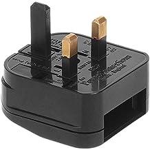 Maclean MCE71 - Adaptador para enchufe Europeo a UK Inglés Reino Unido 5 Amps
