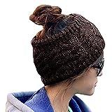 Bandeaux d'hiver TININNA Bandeaux en tricot crochets Bandeau à cheveux Turban Chauffe-oreilles Bandeau de cheveux marron