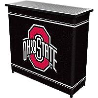 Trademark Gameroom NCAA Ohio State University dos estante portátil Bar con funda