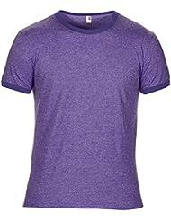 Anvil Herren Ringer T-Shirt mit Rundhalsausschnitt, Kurzarm, besonders leicht