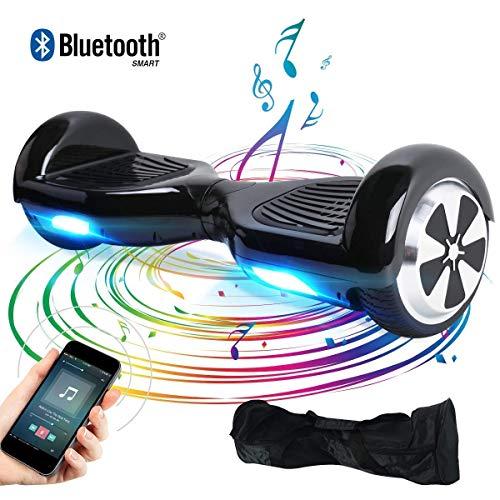 "BEBK Elektro Scooter, 6.5\"" Hoverboard, Self Balance Scooter mit Bluetooth Lautsprecher, 2 * 250W Motor, LED Lights (schwarz)"