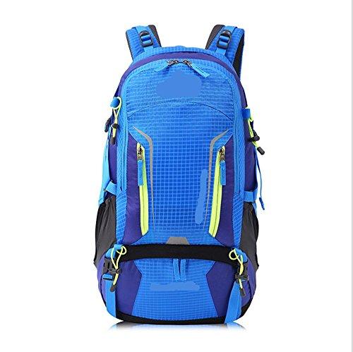 Xiuxiandianju Bergsteigen wasserdichte Tasche Rucksack große Kapazität Outdoor-Rucksack Blue