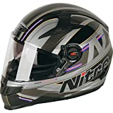 Nitro N2200 Sterling Dvs moto casco, Satin Black Gun