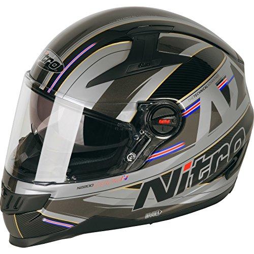 187217XL12 - Nitro N2200 Sterling DVS Motorcycle Helmet XL Satin Black Gun (12)