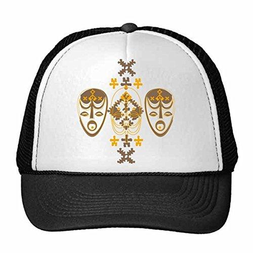 DIYthinker Mittelalter Kultur Religion Rot Maske Kunst Illustration Muster Retromütze Baseballmütze Nylon Mütze Justierbare Kappe Adult Multicolor