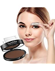 Turelifes Imperméable à l'oeil Crayon de sourcils Poudre Perfect Eyebrow Power Seal Nature Eye Brow Powder Forme délicate Dark Brown