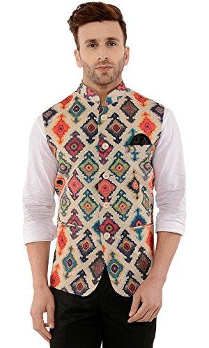 Cenizas Casual MultiColor Nehru Jacket Neck Waistcoat for men slim fit party...