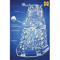 GB eye 61 x 91.5 cm Haynes Dalek Blueprint Doctor Who Maxi Poster, Multi-Colour