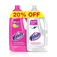 Vanish Laundry Stain Remover Liquid for Pink 1.8 Litre + White 1.8L (Pack of 2)
