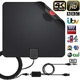 Antenne TV Intérieur Puissante, 0.6mm Antenne TNT Intérieure Full HD HDTV Aérienne avec d'Excellente Performance pour...