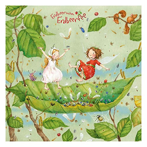 Tapete selbstklebend - Erdbeerinchen Erdbeerfee - Trampolin Quadrat 288x288 cm