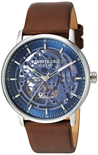 Kenneth Cole New York Men's Analog Automatic-self-Wind Watch with Leather Strap KC15104003