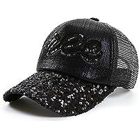 JYJSYM Parasol Parasol Verano Sombrero, Sombrero, Gorra de Béisbol, Verano Hombres Mujeres Deportes al Aire Libre Playa Visera Plegable,Black