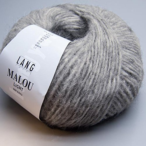 Lang Yarns Malou Light 005 medium grey 50g Wolle