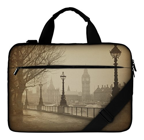 silent-monsters-laptop-bag-case-173-inch-made-of-canvas-with-pocket-for-accessories-design-big-ben