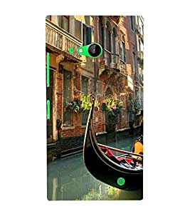 For Nokia Lumia 730 Dual SIM :: Nokia Lumia 730 Dual SIM RM-1040 beautiful city, beautiful building, nice home, river, boat Designer Printed High Quality Smooth Matte Protective Mobile Case Back Pouch Cover by APEX