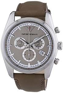 Emporio Armani Herren-Armbanduhr Chronograph Quarz Leder AR6040