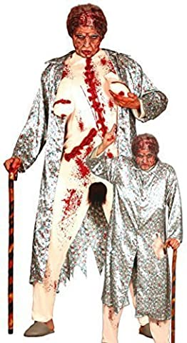 Old Granny Costumes Déguisements - Pour Hommes Zombie Clignoteur Old Granny Grossier