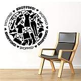 Mode Vêtements Mur Art Decal Mur Art Autocollant Murales Décoration de La Maison Accessoires pour Salon Vinyle Imperméable Sticker 30 * 29 cm