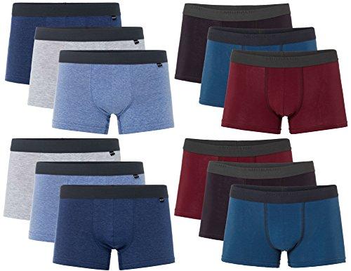12 Herren Elastan -Baumwoll Boxershort, Modell: 12 STK Set 05-07, Größe: L-6