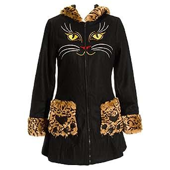 Banned Cats Eyes Coat (Black) - 14 UK