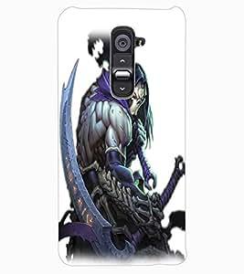 ColourCraft The Demon Design Back Case Cover for LG G2