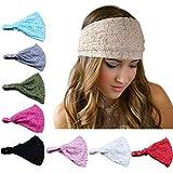 DRESHOW 8 Pieces Women Fashion Lace Elastic Hair Band Turban Head Band Hair Accessories