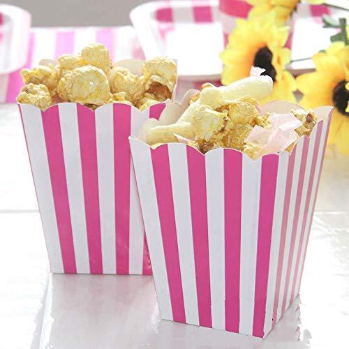 Rot Stripped Einweggeschirr Party Papier Teller Tassen Baby Shower Favor Geburtstag Party Papierservietten Geschirr Dekoration, Popcorn Box 12 Stücke
