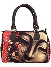Lavaya Digital Printed Hand Bag Floral Buddha