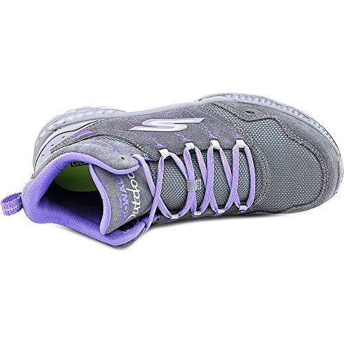 Skechers Go Walk Outdoors Passage Femmes Daim Chaussure de Randonnée Charcoal-Purple