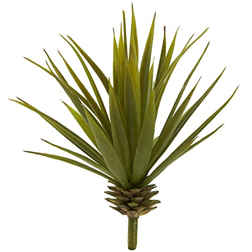 Nearly Natural Fast Natur 6111-s12Mini Spiky Agave Sukkulente, Set von 12