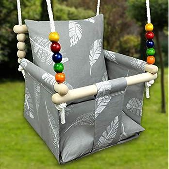 BlueKitty Schaukel für Kinder; Babyschaukel; Kinderschaukel mit Kissen, Schaukel für Haus und Garten; Babyschaukel…