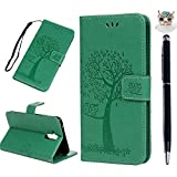 Mate 20 Lite Handyhülle Huawei Mate 20 Lite Hülle Case Leder Tasche Eule Baum Muster Flipcase Cover Silikon Schutzhülle Handy