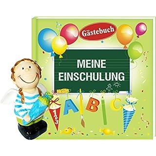 AV Andrea Verlag Album Meine Einschulung Gästebuch mit Spardose Engel Junge blau (Album Meine Einschulung 12636 + Spardose Engel Junge 60136)
