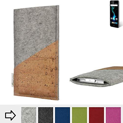 flat.design Handy Hülle Evora für Allview P6 Pro Schutz Tasche Kartenfach Kork passgenau handgefertigt fair
