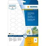 Herma 4380 Etiketten (A4 oval Movables/ablösbar Papier matt, 40,6 x 25,4 mm) 900 Stück weiß